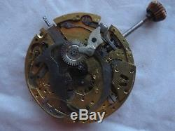 Quarter Repeater Pocket watch movement stem to 3 some parts missing to restore
