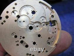 RARE 16s McIntyre Watch Co 25J LS HC winding Indicator pocket watch movement set