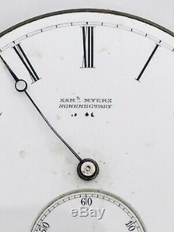 RARE High Grade Patek Phillipe VC Swiss Pocket Watch Movement Runs 43.99mm