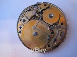 RARE Movement pocket watch repeater musical drum