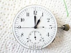 RARE Pocket watch Repeater Choreograph movement need service Balance OK (Z491)