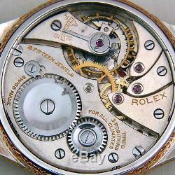ROLEX Hand-Engraved Art High-Grade Pocket Watch Movement cal. 662 c1920's