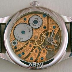 ROLEX LEVER Maxi Skeleton HAND-ENGRAVED ART movement Pocket Watch 1920s