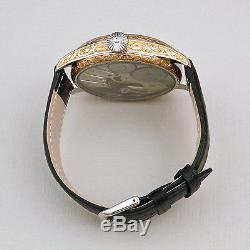 ROLEX LEVER SWISS MADE ART Hand-Engraved Pocket Watch Movement 1920s