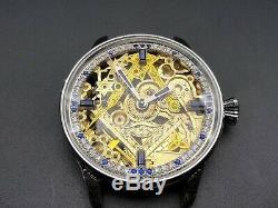 ROLEX MASONIC Skeleton Elegant Marriage Pocket Watch Movement