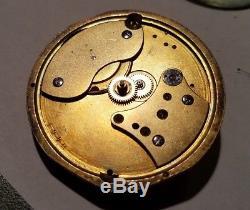 Rare 1860s Gutkaes Und Lange San Francisco Private Pocket Watch Movement #1992