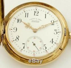 Rare A. Lange & Söhne Quality 1A Movement 53mm Pocket Watch, Heavy 14K Gold Case