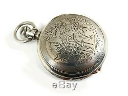 Rare Antique 18s Waltham Appleton Tracy Gold Movement Pocket Watch Mint Serviced