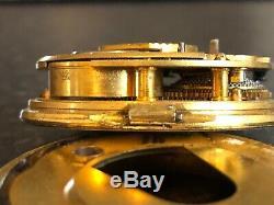 Rare Antique Liverpool Rack Lever Escapement Fusee Pocket Watch Movement