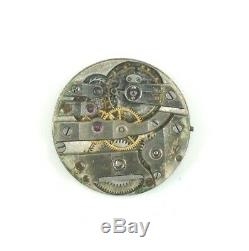 Rare Antique Swiss High Grade 23.3mm Pocket Watch Movement For Parts Or Repair