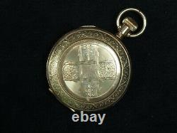 Rare Appleton Tracy 18 Size Pocket Watch Movement Fogg's Patent SCARCE