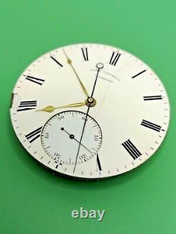 Rare Independent Dead Seconds, Dual Train, English Pocket Watch Movement (P106)