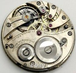 Rare Juvenia Didisheim 21 jewel 8 POS High Grade watch movement running