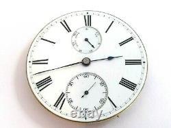 Rare Mathew Flaig, Nassau Up- Down Wind Indicator pocket watch movement. Repair