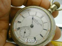 Rare Mermod Jaccard & Co. St Louis Mo. Railroad Pocket Watch Lever Set
