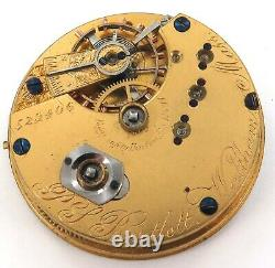 Rare Only 20,839 Made / 1871 Waltham P S Bartlett 10s 15j Pocket Watch Movement