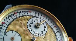 Rare Regulateur marriage Chronometer pocket watch with antique 1918 movement