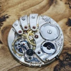Rare Revue Thommen 17 Jewel High Grade Pocket Watch Movement Working (AX46)