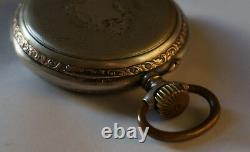 Rare! Silver 800. Very Beautiful. Pocket Watch. French LeCoultre movement