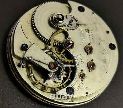 Rare Ulysse A Bourqui High Grade pocket watch movement 46mm AS IS