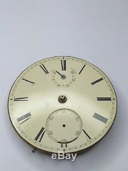 Rare Very High Quality Chain Fusee Up/Down Power Reserve Pocket Watch Movement