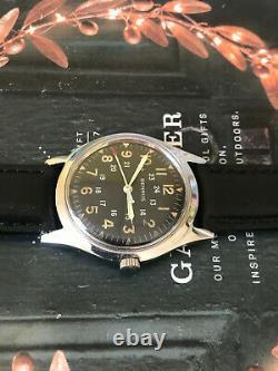 Rare Vintage 60s Benrus Bullitt men's watch, Ref 3061, Hack movement