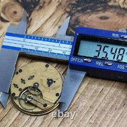 Rare Waltham Appleton Tracy Civil War Pocket Watch Movement for Repair (Q81)