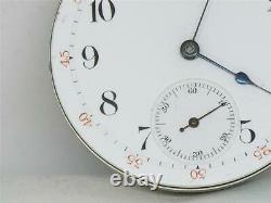 Rare Waltham Nickel & Gold 1872 Am'n Grade 16 Jewel Watch Movement & Dial, Runs