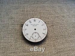 Repeater Bailey Banks Biddle Pocket Watch Movement 44mm & Mint Porcelain Dial