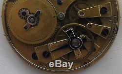 Repeater Key Wind Pocket watch movement 52 mm. In diameter repeater work
