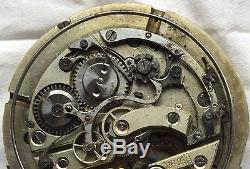 Repeater Pocket watch movement & enamel dial 54 mm. In diameter balance Ok