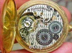 Rockford Plymouth Watch Co OS 15J 25 Year Gold Filled Hunter Case Pocket Watch