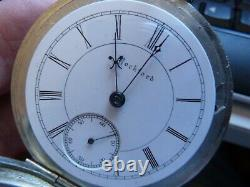 Rockford Rare 18S 17 jewels adj two-tone movement in A RARE HINGED display case