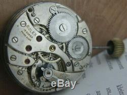 Rolex Pocket Watch Movement Working Serviced