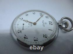 Romar, pocket watch cal unitas 6497, run, 035