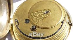 Rotherhams Pocket Watch Fusee Movement Working