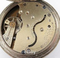 SUPERB / RARE EARLY 1900s C JENSEN, TENTERFIELD POCKET WATCH, MOERIS MOVEMENT