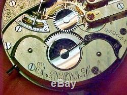 Scarce Elgin 16S 21J Grade 91 Convertable Leverset Nickel Movement