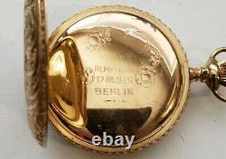 Seth Thomas 6 S. 7J. Grade 35 two-tone movement (1897) gold filled hunter case