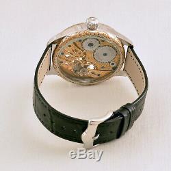 Skeleton Eagle VS. Snake HAND-ENGRAVED ART vintage Pocket Watch movement 1920s