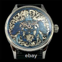 Skeleton wristwatch conversion with vintage luxury swiss pocket watch movement
