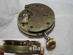 Spares Antique Chronograph Pocket Watch Movement for Spares 43.9 mm diameter
