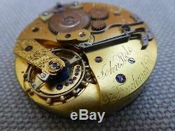 Split seconds chronograph pocket watch movement