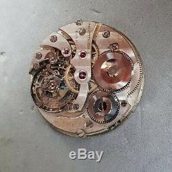 Staehli & Brun 42mm 16size antique pocket watch movement w interesting regulator