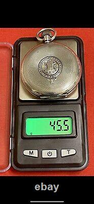 Sterling Silver Hunter 16S Pocket Watch Case- No Movement (Can Include Crystal)