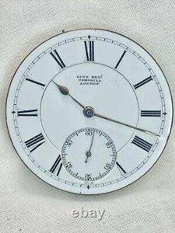 Stunning Large Chronometer Quality Barraud Lunds Antique Pocket Watch Movement