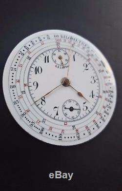 Stunning Pocket Watch Chronograph Movement for parts / repair / marriage