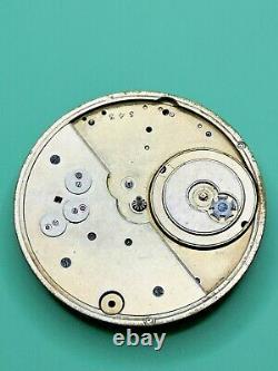 Swiss Detent Chronometer Pocket Watch Movement for Repair Good Balance (J81)