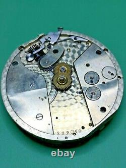 Swiss Detent Helical Hairspring Chronometer Pocket Watch Movement -Working (J80)