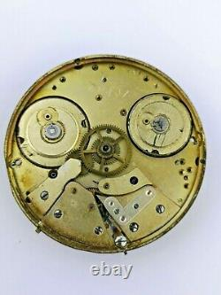 Swiss Independent Seconds Dual Train Pocket Watch Movement Highly Jewelled (E70)